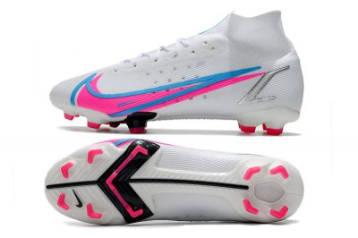 Cheap Nike Mercurial Superfly 8 Elite FG Football Boots White Blue Pink