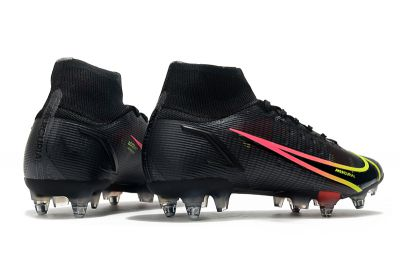Nike Mercurial Superfly 8 Elite SG-PRO Cheap Football Boots Black Cyber Yellow Off Noir