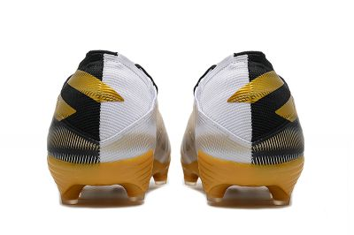 adidas Nemeziz 19 .1 FG White/Gold Metallic/Core Black football boots