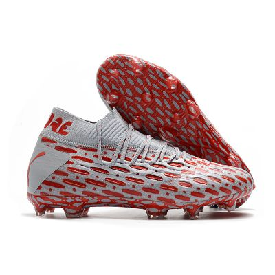 PUMA Future 5.1 Netfit FG/AG Gray Red