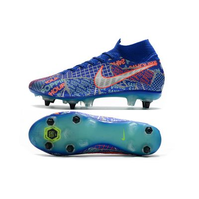 Nike Mercurial Superfly VII Elite Sancho SG-PRO - Racer Blue/White/Aurora Green/Black