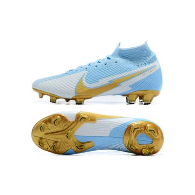 Nike Mercurial Superfly 7 Elite FG Blue White Gold