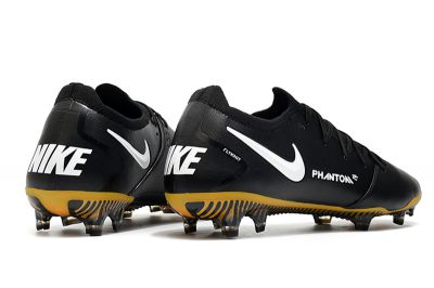 Nike Phantom GT Tech Craft FG K-Leather - Black / White / Pro Gold / Metallic Gold