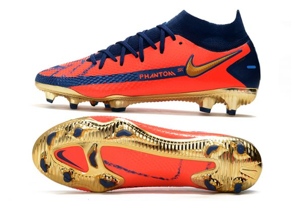 Stunning Colorway of Cheap Nike Phantom GT Elite DF FG Football Boots Red Gold Blue